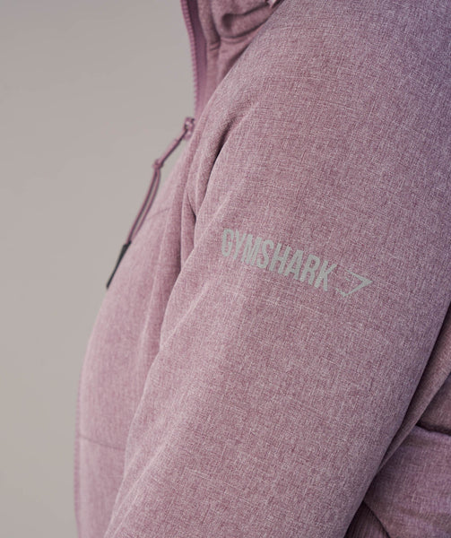 Gymshark Mellow Fitted Puffer Jacket - Purple Wash Marl 4