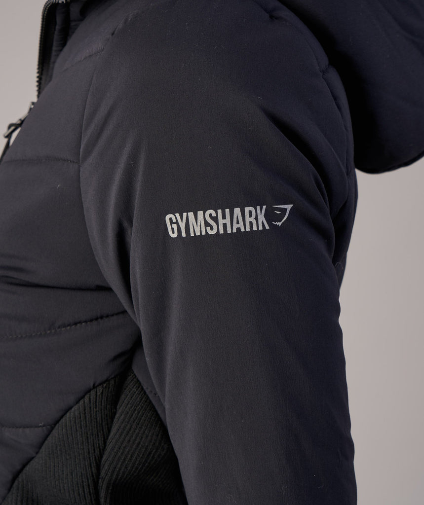 Gymshark Mellow Fitted Puffer Jacket - Black 6