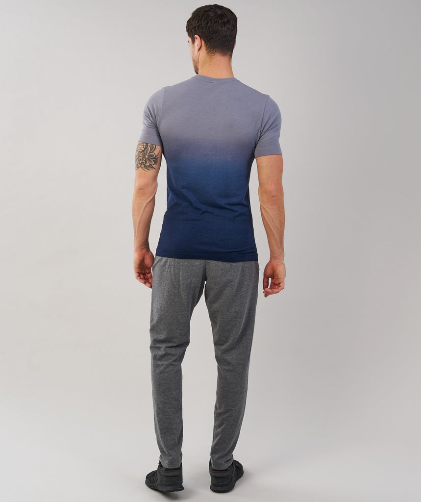 Gymshark Ombre T-Shirt - Light Grey/Sapphire Blue 2
