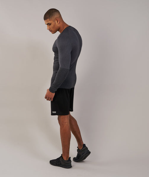 Gymshark Performance Seamless Long Sleeve T-Shirt - Black Marl 3