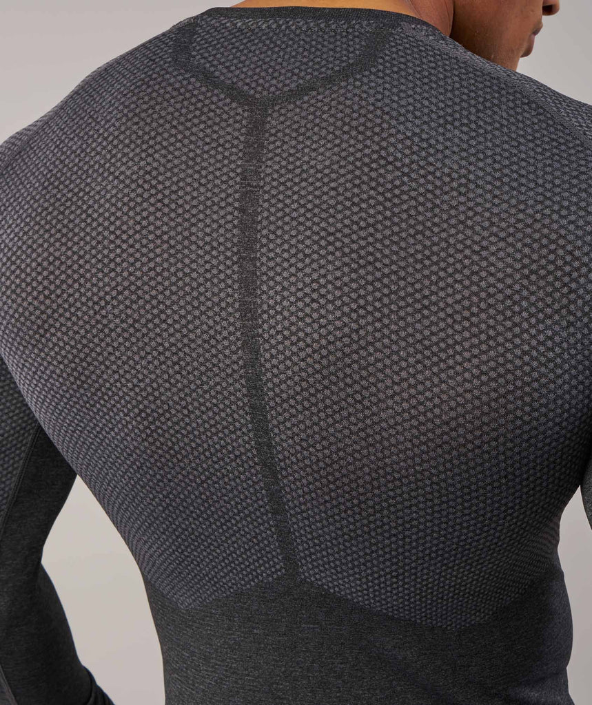 Gymshark Performance Seamless Long Sleeve T-Shirt - Black Marl 6
