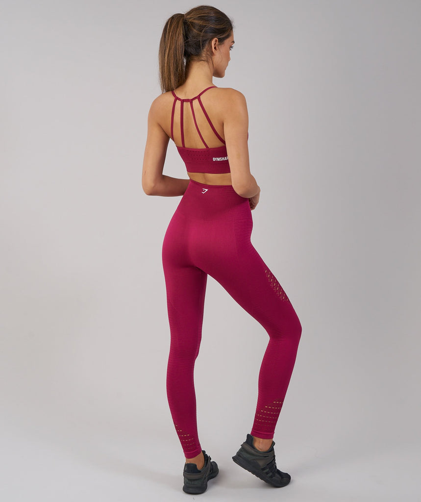 Gymshark Seamless Energy High Waisted Leggings - Beet 2