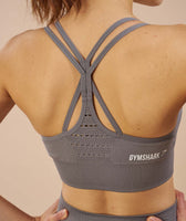 Gymshark Seamless Cross Back Sports Bra - Slate Grey 12