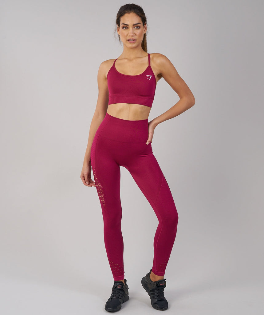 Gymshark Energy Seamless Sports Bra - Beet 1