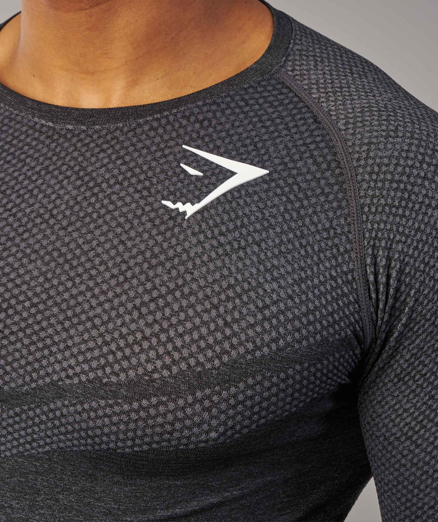 Gymshark Performance Seamless T-Shirt - Black Marl 5