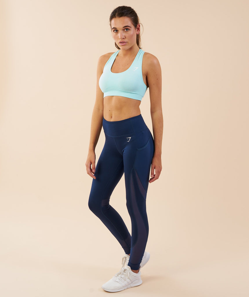 Gymshark Sleek Sculpture Leggings - Sapphire Blue 1