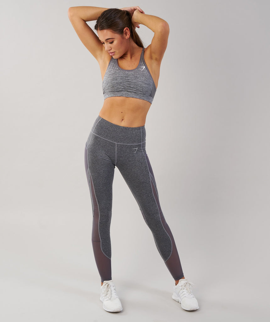 Gymshark Sleek Sculpture Leggings - Charcoal Marl 1