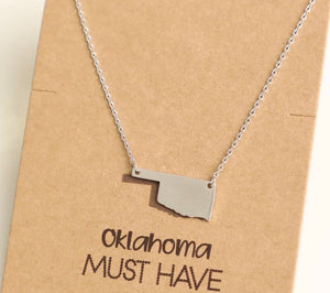 Silver OK necklace