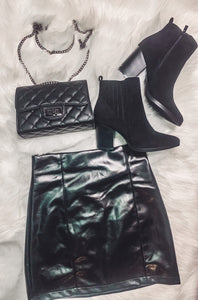 Lookin Hot Leather Skirt