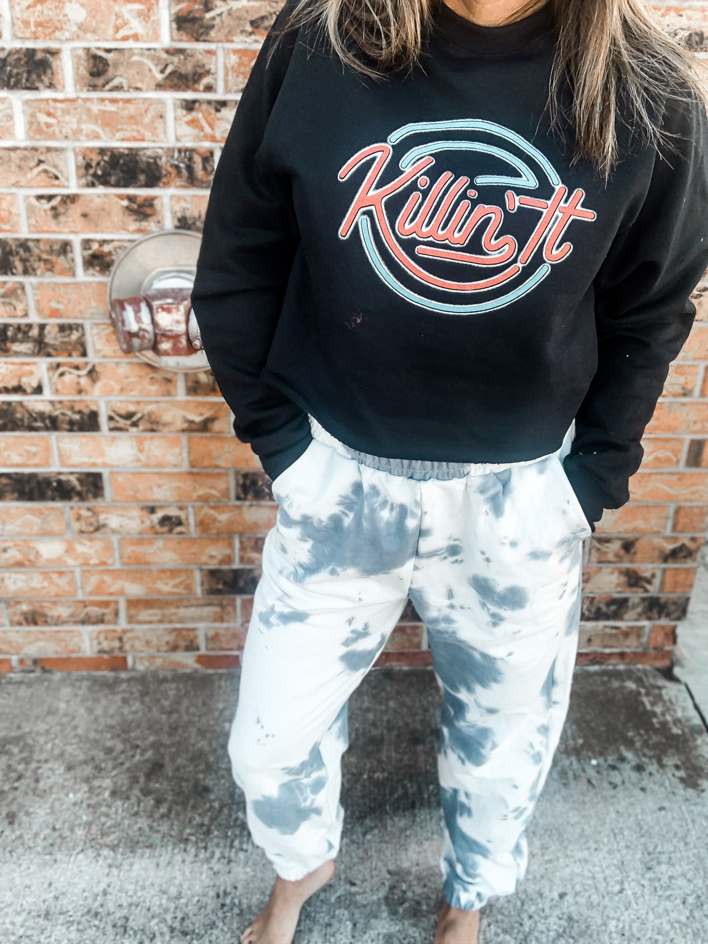 Speechless Tie Dye French Terry Joggers
