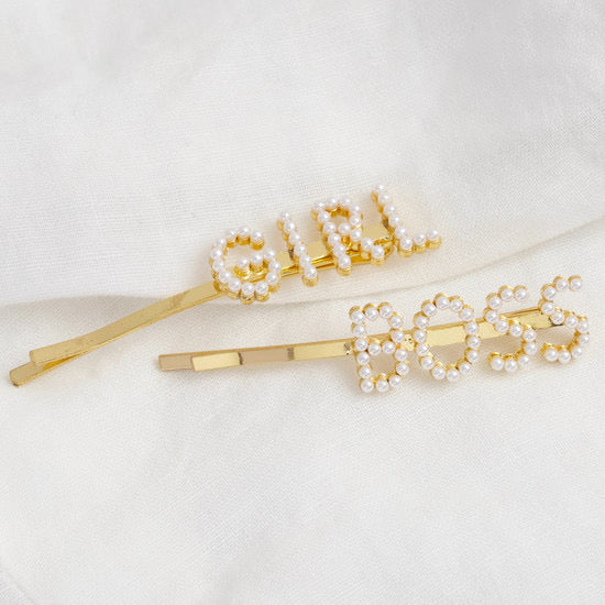 'Girl Boss' Hairclip