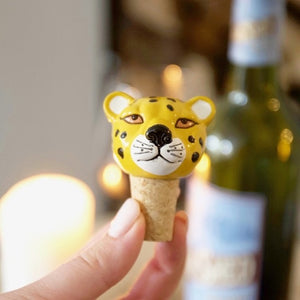 Leopard Head Bottle Stopper