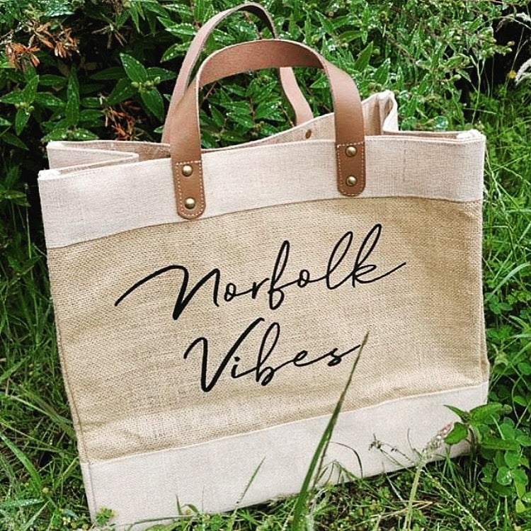 Superior Style Personalised Jute Bag (FREE DELIVERY)