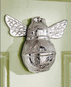 Nickel Bee Door Knocker