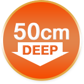 50cm deep for any bed size, Long bed sheets