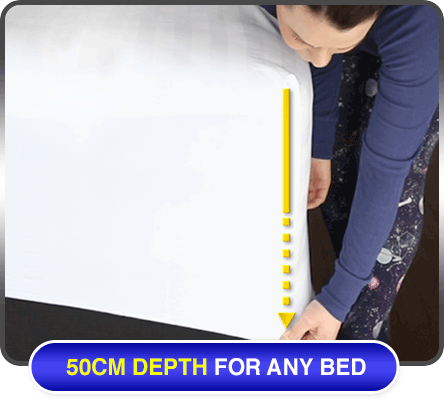 50cm depth for any bed