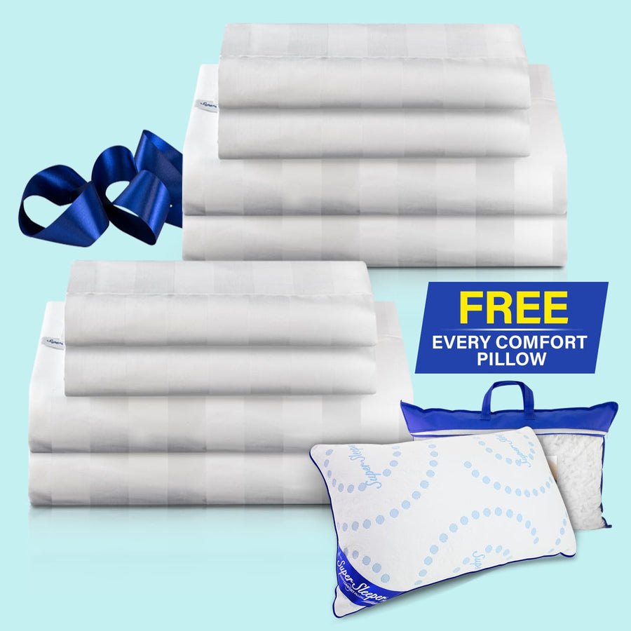 TV Special Royal Deluxe Super Weave Dream Sheet Set - Buy 1 Get 1 FREE + FREE Adjustable Every Comfort Pillow