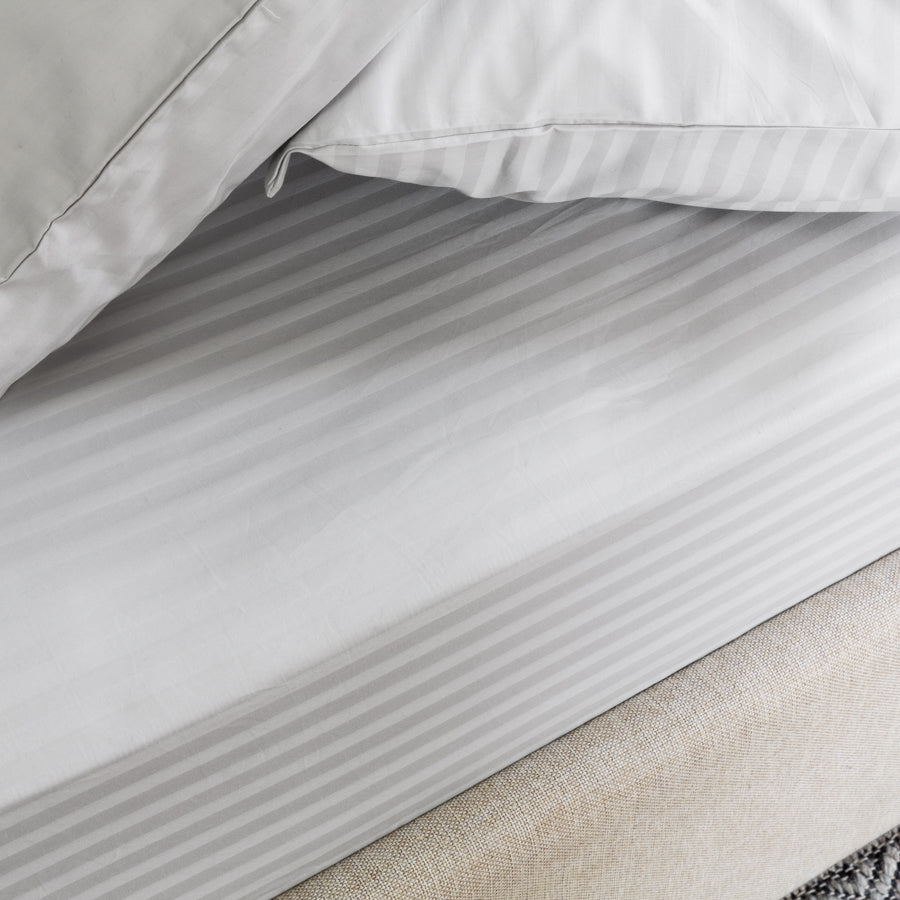 Shimmering Silver Design on the Silver Cotton Royal Deluxe Dream Sheets