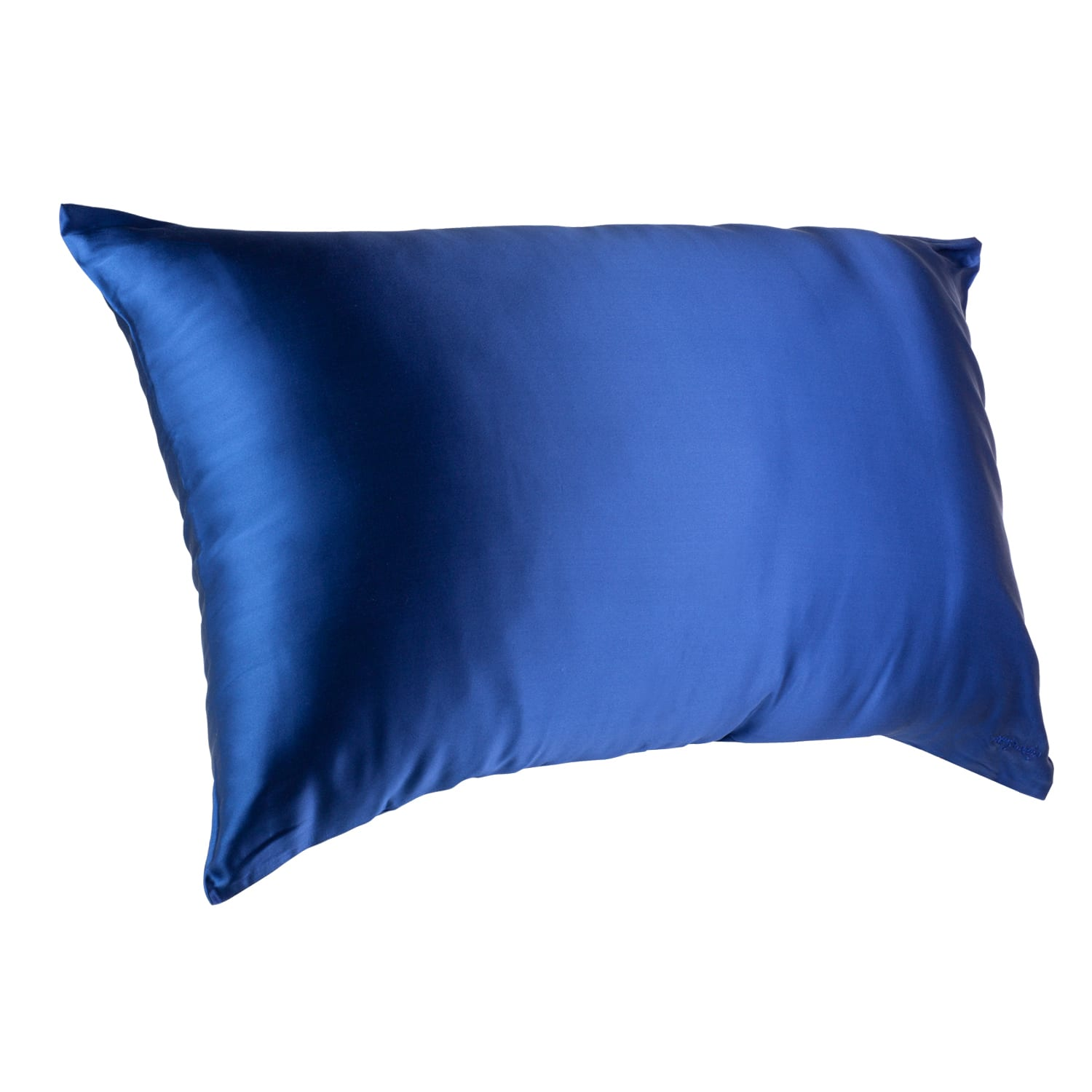 Midnight Blue Youth Silk Pillow Case on a pillow