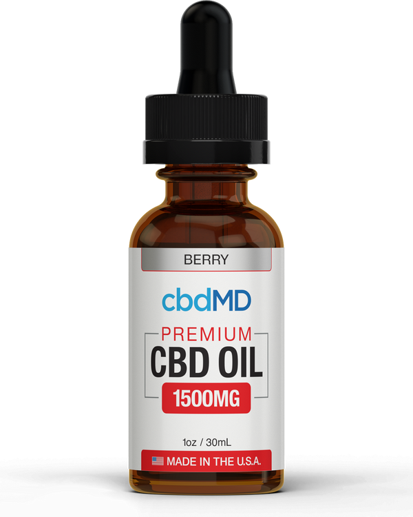 CBD MD Tincture (1500mg) - Natural , Berry & Mint Flavors