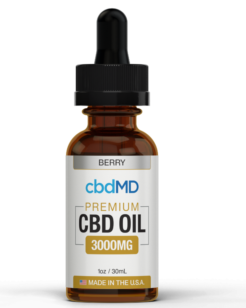 CBD MD Tincture (3000mg) -Natural, Mint , Orange , Berry Flavors