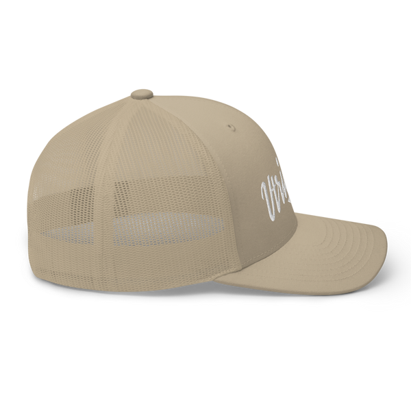 Vtrident Embroidered Retro Trucker Hat - Khaki