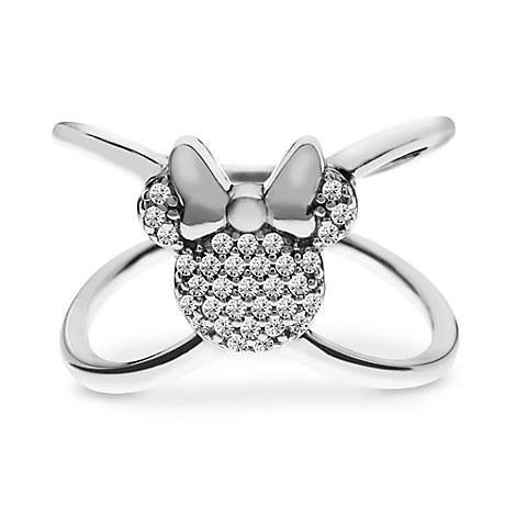 "Disney Rebecca Hook Ring - Minnie Mouse ""X"" Ring - Silver"