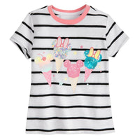Mickey and Minnie Mouse Sequin Ice Creams T-Shirt for Girls