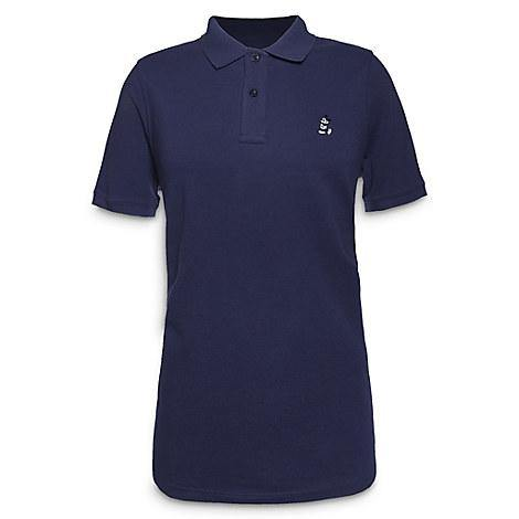 Disney Adult Shirt - Mickey Mouse Relaxed Fit Polo for Men - Navy