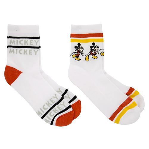 Disney Men's Socks - Timeless Mickey Red White Yellow
