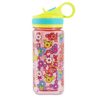 Disney Mickey and Minnie Mouse Donut Water Bottle with Built-In Straw