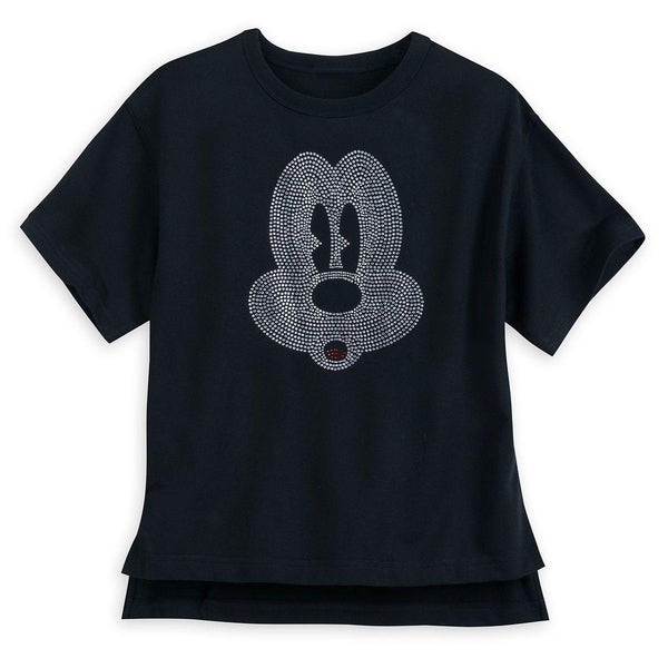 Disney Women's Shirt - Rhinestone Mickey Mouse Face