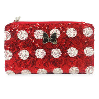 Disney Minnie Mouse Bow Sequin Wallet by Loungefly
