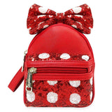Disney Minnie Mouse Bow Backpack Wristlet by Loungefly