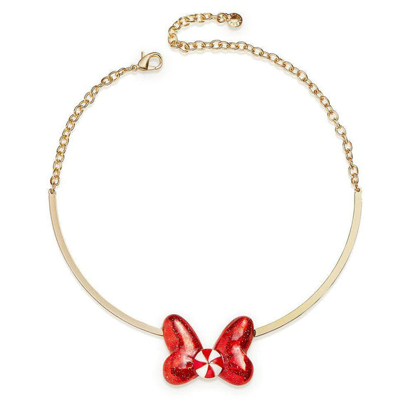 Minnie Mouse Holiday Bow Necklace by BaubleBar - Pixiedust Shopper