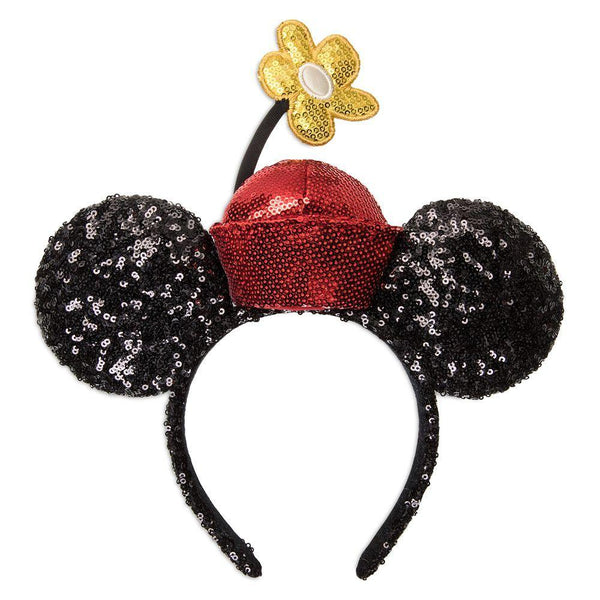 Disney Minnie Mouse Sequined Ear Headband with Flower Pot Hat
