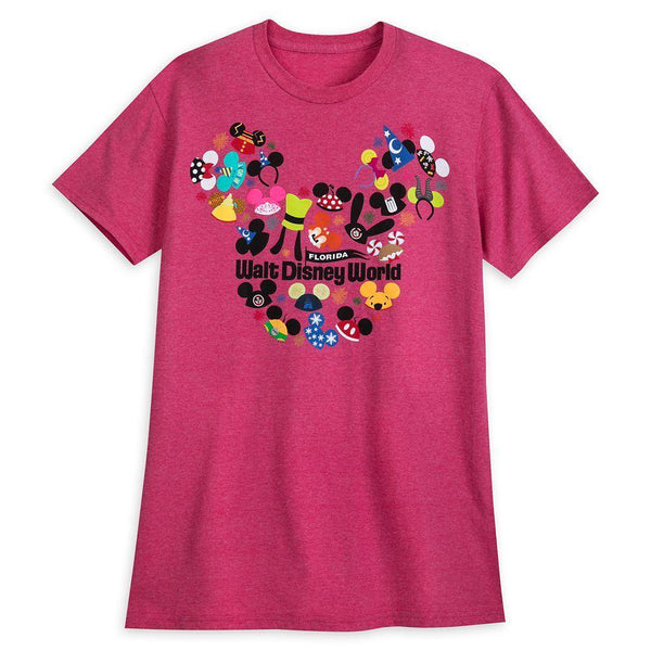 Ear Hat Collage T-Shirt for Adults – Walt Disney World