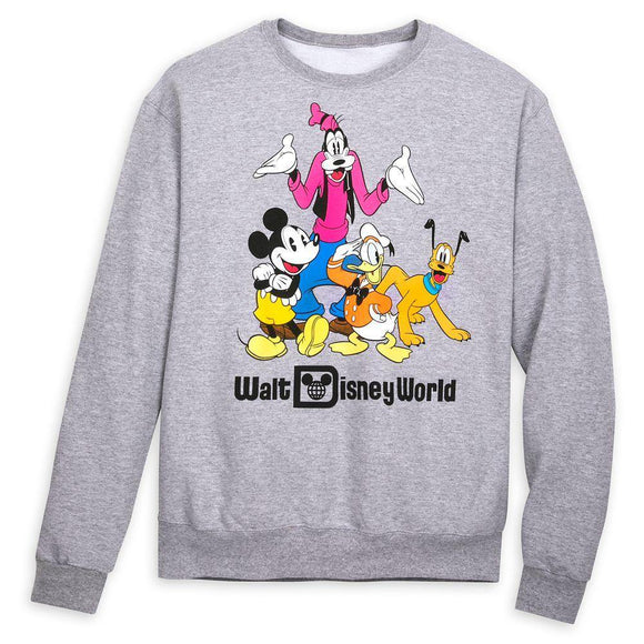 Walt Disney World Mickey Mouse and Friends Sweatshirt for Adults