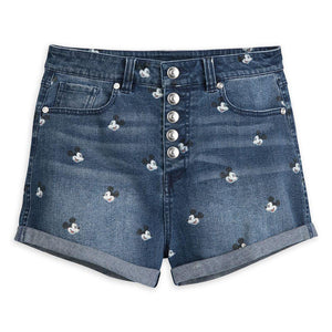 Disney Mickey Mouse Denim Shorts for Juniors