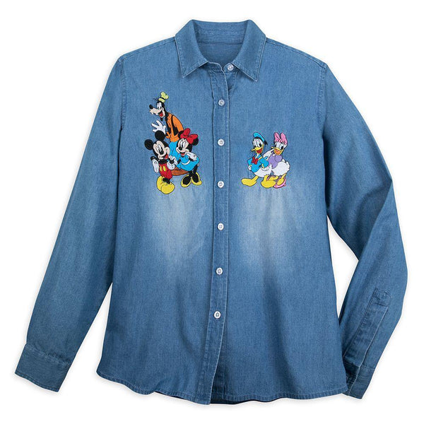 Disney Mickey Mouse and Friends Denim Shirt for Women