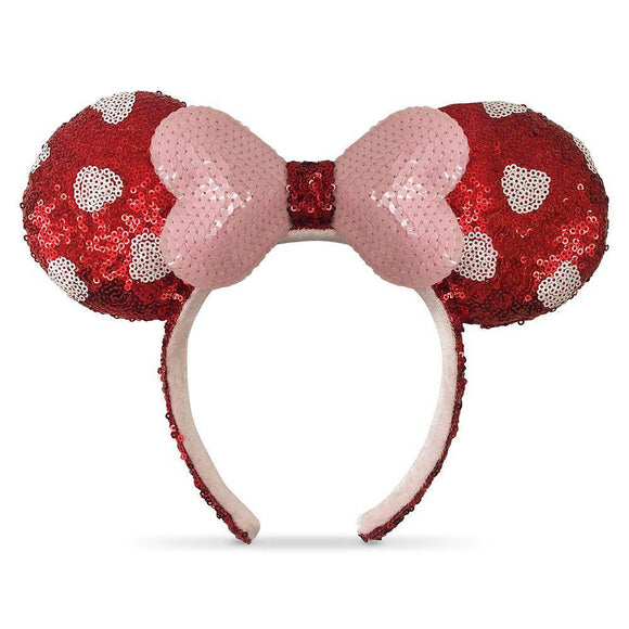 Disney Valentine's Day Minnie Mouse Sequined Ear Headband