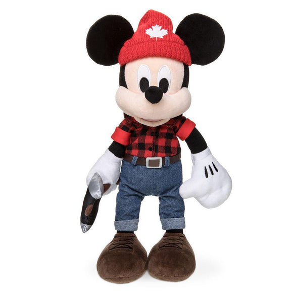 Disney Epcot Canada World Showcase Lumberjack Mickey Mouse Plush – 13''