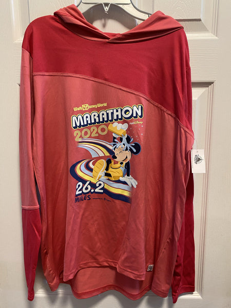 RunDisney 2020 Marathon Weekend Mickey 26.2 Miles Women's Pullover Hoodie with Thumb Holes