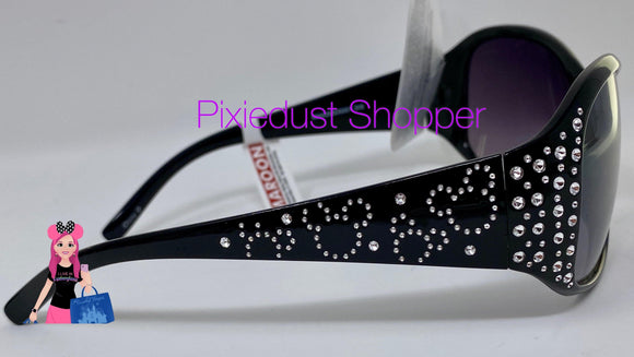Disney Parks Black Sunglasses with Rhinestone Mickey Heads