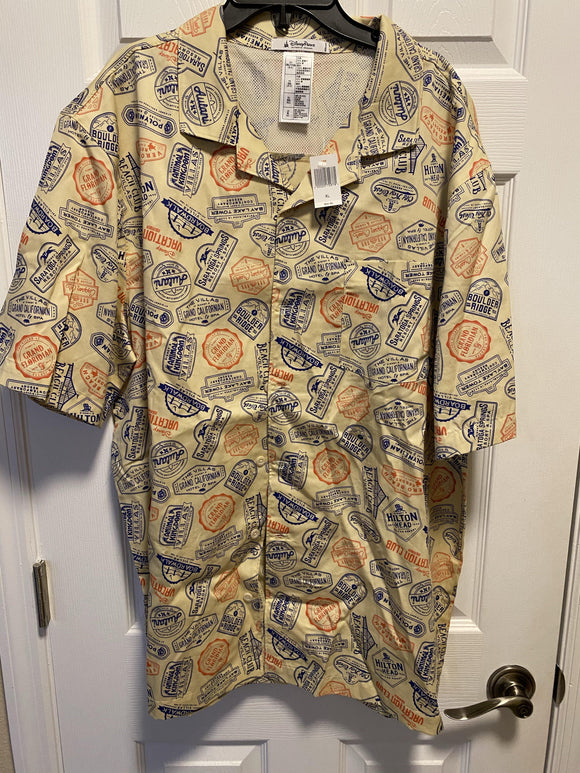 Disney Vacation Club Button Down Camp Shirt