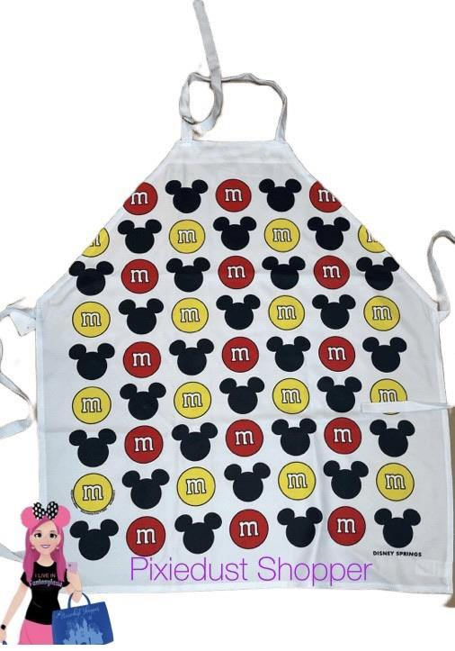 Disney Springs M&M and Mickey Mouse Apron - Pixiedust Shopper