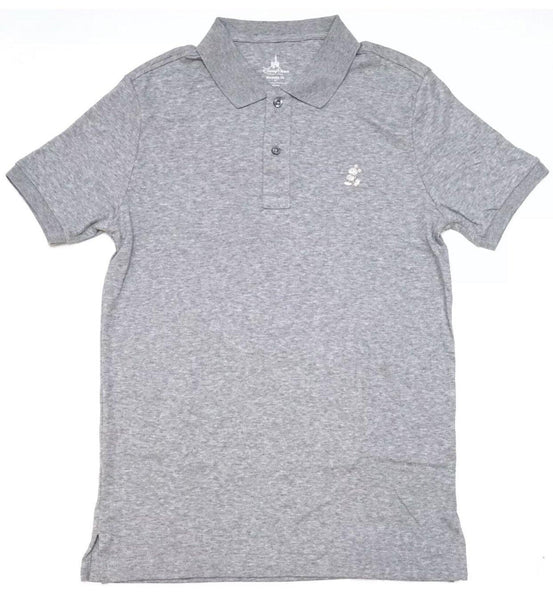 Disney Parks Mens Shirt Gray Modern Fit Polo