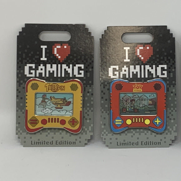 "Disney ""I heart gaming""  Tale Spin, Aladdin, or Toy Story Pin"
