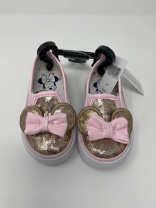 Disney Sequin Minnie Rose Gold Kids Shoes