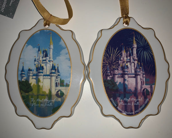"Disney Disc Ornament - Castle ""The Most Magical Place on Earth"""